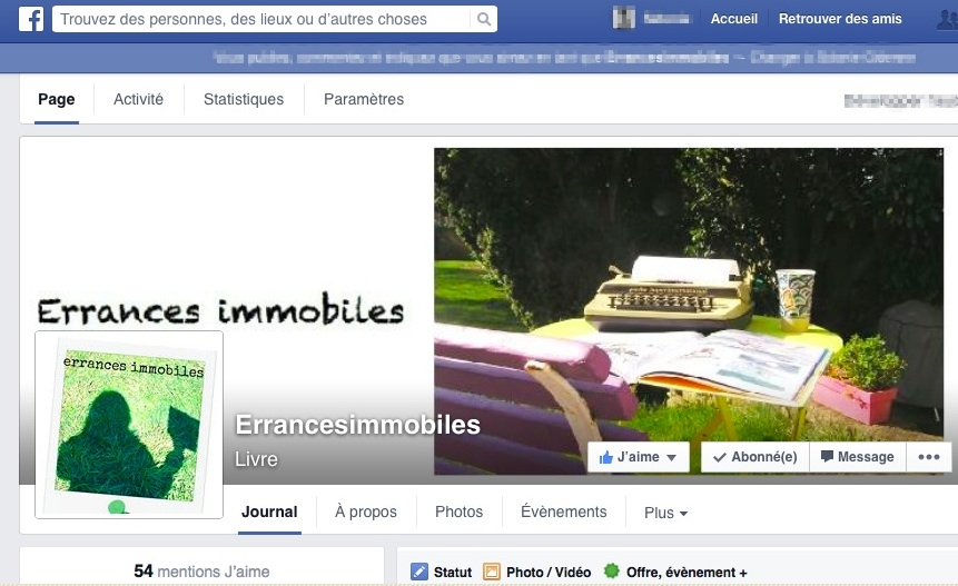 page Facebook errances immobiles